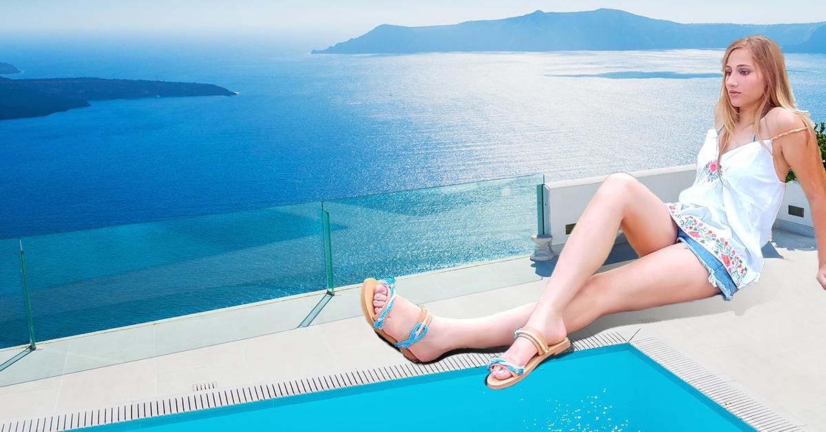 Ίσια δερμάτινα σανδάλια τα must have καλοκαιρινά παπούτσια για τις διακοπές
